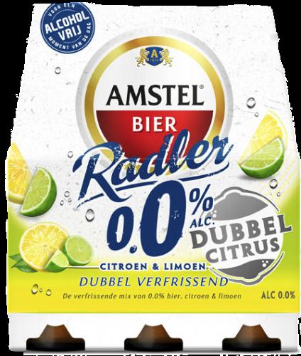 Amstel Radler dubbel citrus 0.0% set van 6 flesjes a 0,33 liter