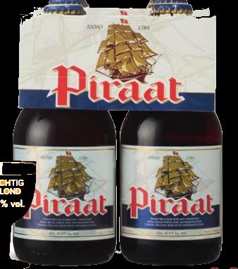 Piraat set van 4 flesjes á 0,33 liter