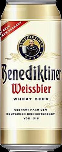 Benediktiner Weissbier blik van 0,50 liter