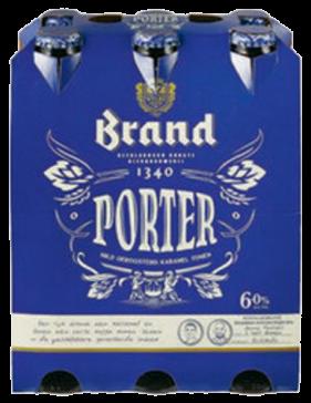 Brand Porter set van 6 flesjes á 0,30 liter