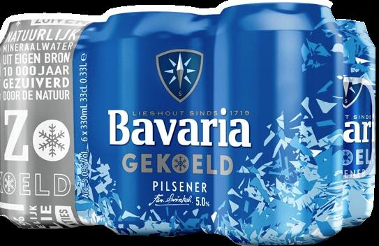 Bavaria gekoelde set van 6 blikjes á 0,33 liter