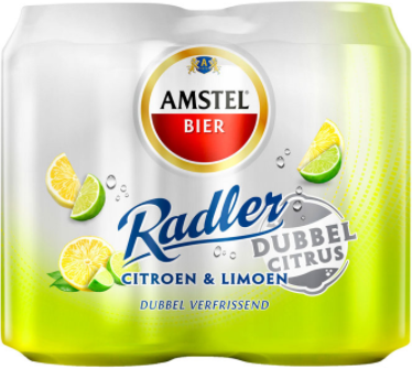 Amstel Radler dubbel citrus set van 4 blikjes van 0,33 liter