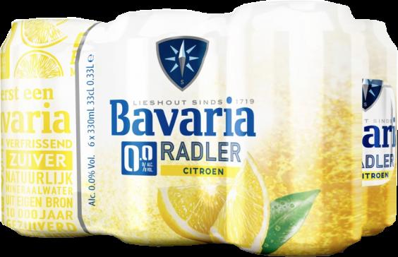 Bavaria radler 0% blikjes 6x33cl