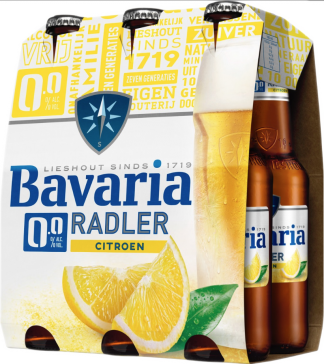 Bavaria radler 0 alcohol 6x30 flesjes