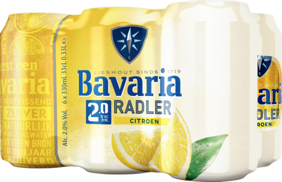 Bavaria radler lemon 6x33 blikjes