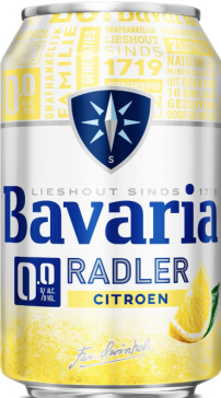 Bavaria radler 0% alcohol blikje 33cl