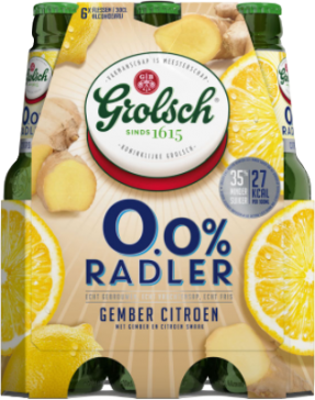 Grolsch Radler 0.0% Gember Citroen set van 6 flesjes van 30cl