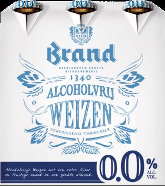 Brand Weizen 0.0% set van 6 flesjes á 0,30 liter