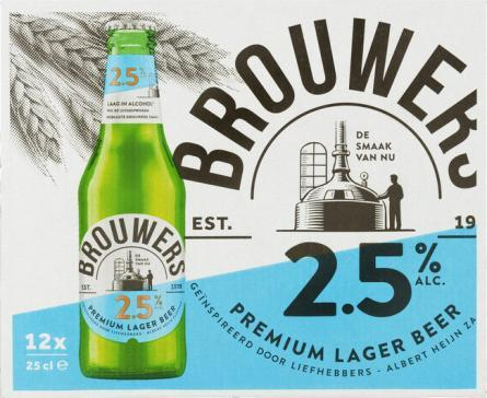 Brouwers 2,5% pack 12x0,25cl