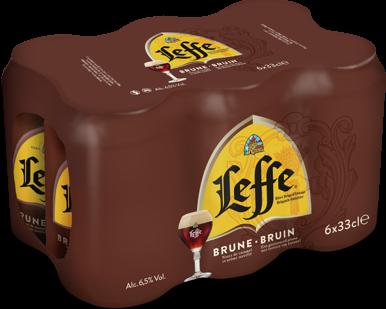 Leffe Bruin blik 6 x 0,33l