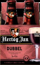 Hertog Jan Dubbel set van 4 flesjes á 0,30 liter