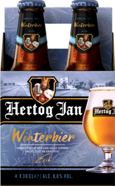 Hertog Jan Winterbier 4pack met flesjes van 30cl