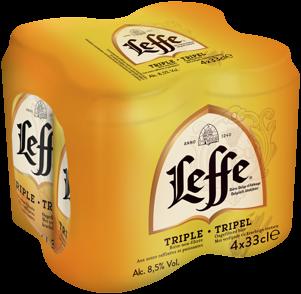 Leffe Tripel blikjes á 4 x 0,33 liter