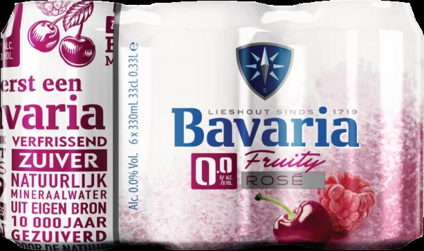 Bavaria 0.0% Fruity Rosé set van 6 blikjes 0,33 liter