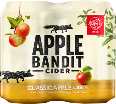 Apple Bandit Classic Apple 4pack met blikjes van 33cl