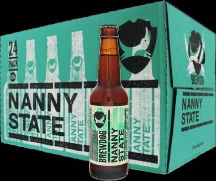 Brewdog Nanny State doos met 24 flesjes van 0,30 liter
