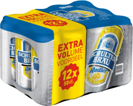 Schultenbrau radler lemon set met 12 blikken van 50c