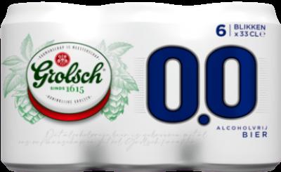 Grolsch 0.0% set van 6 blikjes á 0,33 liter