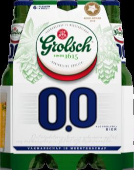 Grolsch 0.0% set van 6 flesjes a 0,33 liter