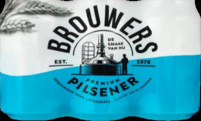 Brouwers Pilsener set van 6 blikjes van 33cl