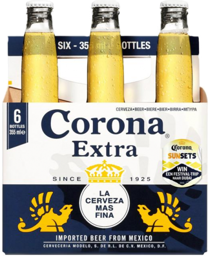 Corona set van 6 flesjes á 0,355 liter