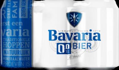 Bavaria 0.0% set van 6 blikjes 0,33 liter