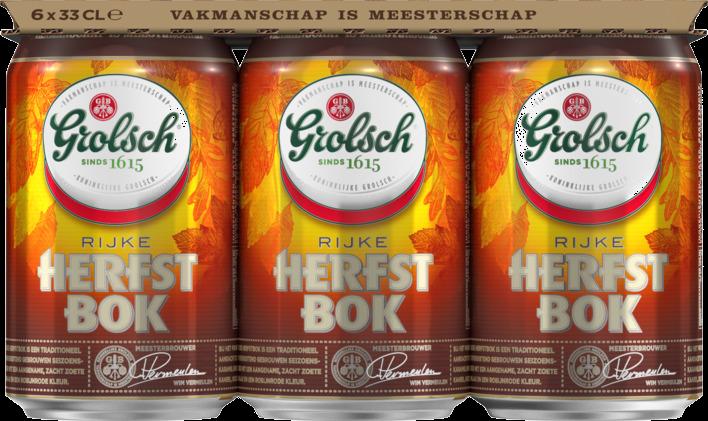 Grolsch Herfstbok set van 6 blikjes á 0,33 liter