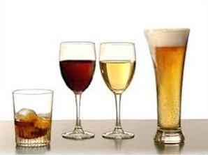 Bier wijn en sterke drank